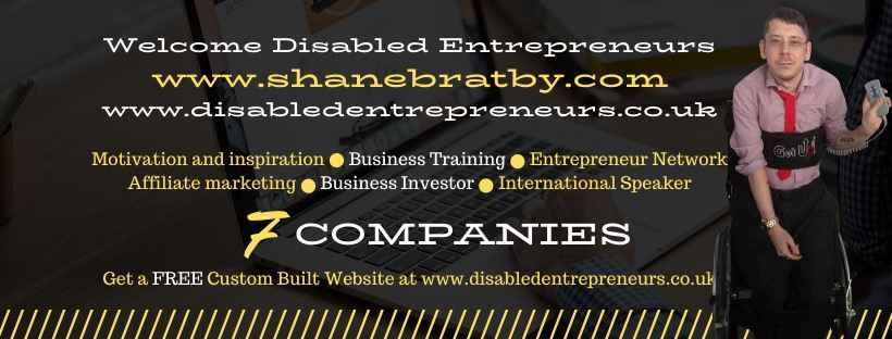disabled business entrepenur Shane bratby
